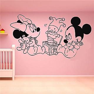 pegatina de pared 3d Mickey Minnie Mouse Wall Art Decal Sticker Vinilo Etiqueta de la pared