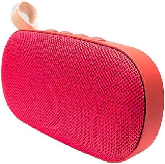 Altavoz portátil de 6W con tecnología Bluetooth BSL-G5 (Rojo) Resistente a Polvo y Salpicaduras  Reproductor mp3   Puerto USB y SD   Toma Auxiliar