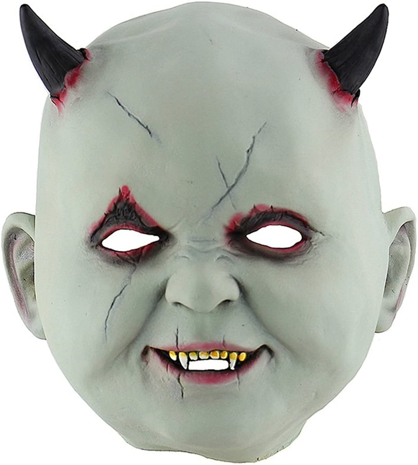 JTWJ Little Devil Vampire Halloween Mask Horror Zombie Haunted House Dressing Room Escape Dress Up Props Head Cover