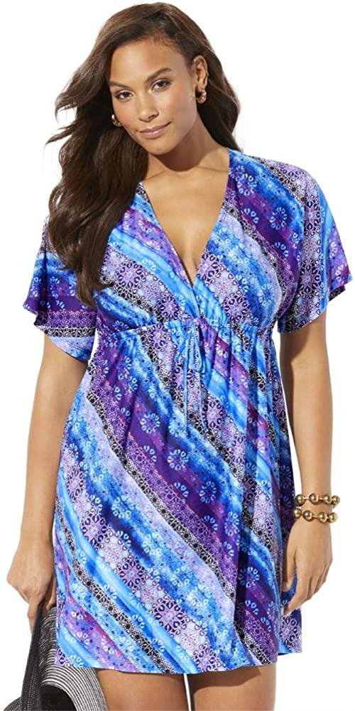 Swimsuits For Max 75% OFF All Women's Plus Size Up V-Neck sale Cover Dress Kate
