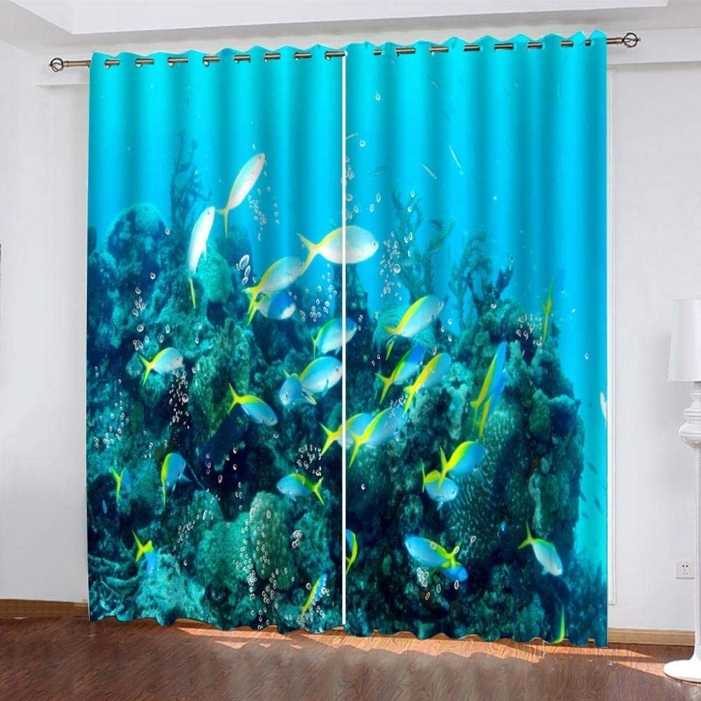 FFFSSS 3D Eyelet Curtain The Jacksonville Mall Blackout Underwater Curtains World Safety and trust