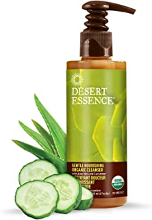 Desert Essence Gentle Nourishing Cleanser - 6.7 Fl Ounce - Face & Skin Moisturizer - Aloe Vera - Chamomile - Cucumber - Apple Juice For Radiant Glow - Dry and Sensitive Skin - Makeup Removal