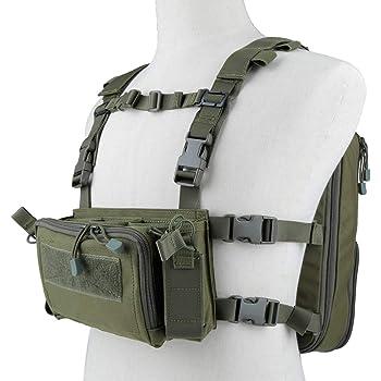 Huenco Bolsa t/áctica para Pistola de Camuflaje con Sistema Molle para Caza y Tiro
