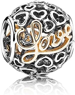 Pandora Women's 791425 Message Of Love Charm - Two Tone, 925 Silver