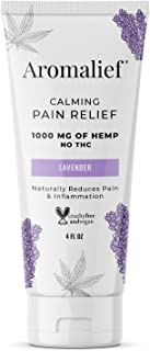 Aromalief Hemp Cream with Lavender Aromatherapy - 1000MG Hemp - Mild Scent - Relieve Stress, Muscle & Joint Pain
