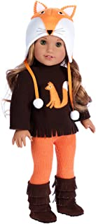 DreamWorld Collections - Foxy - 4 Piece Outfit - Hat, Blouse, Leggings and Boots.  Clothes Fits 18 Inch American Girl Doll (Doll Not Included)