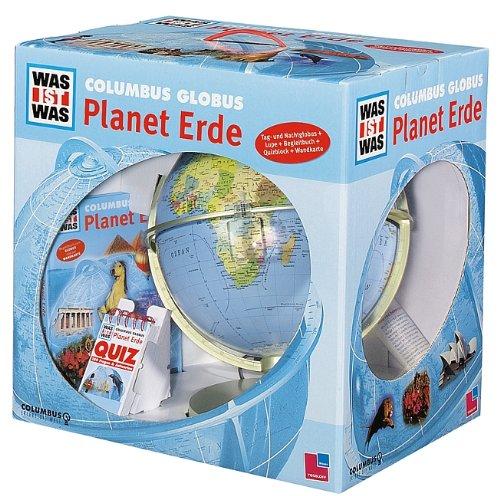 """WAS IST WAS Junior Columbus Globus-Set \""""Unsere Erde\"""" (Leuchtglobus, Begleitheft, Buch, CD, Puzzle)"""