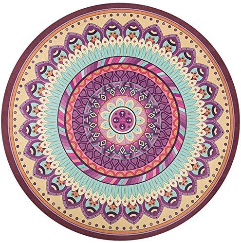 EIIDJFF Esterillas de yoga gruesas antideslizantes antideslizantes redondas de meditación movimiento fitness caucho natural Yoga Mat alfombra espesamiento 150x150cm