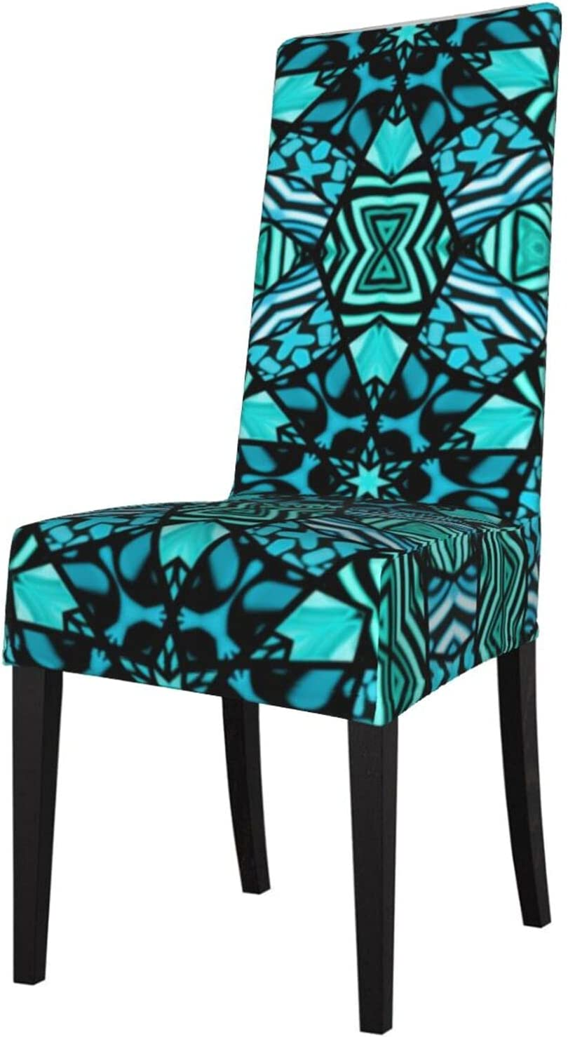 High material QUAVZI 2PCS Stretch Popular Chair Covers for Beautiful Dining Room Teal