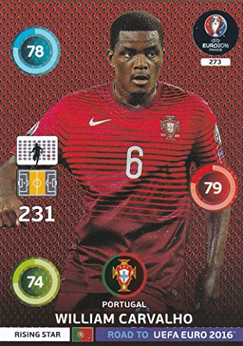 Panini Adrenalyn XL Road To UEFA Euro 2016 William Carvalho-Rising étoiles