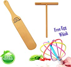 Crepe Spreader Stick (Pack 3) Spatula Turner Egg Whisk [6