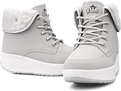 [WYSBAOSHU] [Amazon限定ブランド]レディース スノーブーツ 裏ボア 防寒靴 滑り止め 厚底 雪用 保暖 ショート ブーツ 冬用 通学 通勤 防寒 コンフォートシューズ 雪用ブーツ 冬靴