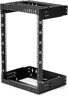 """StarTech.com 15U 19"""" Wall Mount Network Rack - Adjustable Depth 12-20"""" 2 Post Open Frame Server Room Rack for AV/Data/ IT ..."""