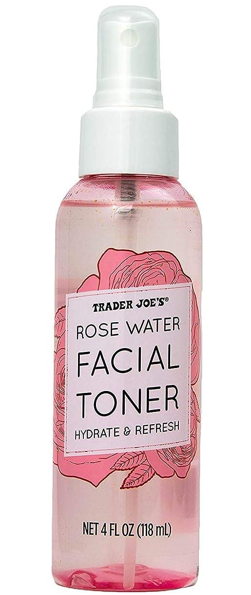 すでにトランザクション神のトレーダージョーズ TRADER JOE'S ローズウォーター フェイシャルトナー 化粧水 スプレー コスメ 美容 リフレッシュ 118mL
