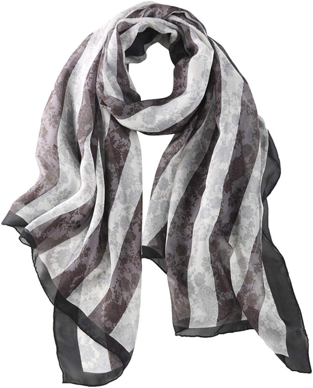 CEFULTY Silk Long Scarf Silk Sunscreen Beach Towel Air Conditioner Shawl for Women (color   Grey, Size   183cm90cm)