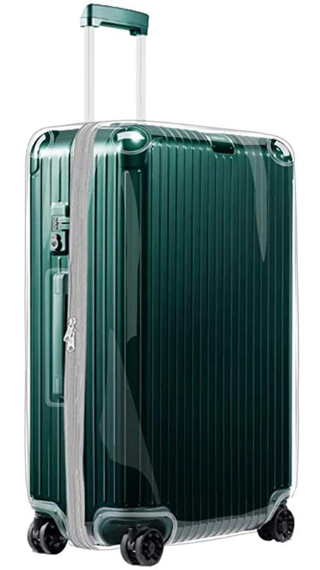 準備した上げるティームTRIPIPPYスーツケースカバー RIMOWA ESSENTIAL リモワ エッセンシャル シリーズ専用 透明 PVC ビニルカバー グレーファナータイプ(型番:832用)
