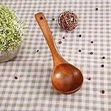 Cucchiaio da cucina, mestolo in legno impermeabile, per ristorante per mestoli da casa, mestoli da cucina(Brown perforated spoon)