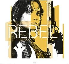 1art1 Star Wars - Rogue One, Jyn Rebel Póster Impresión Artística (40 x 40cm)