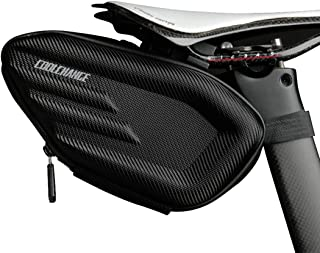 Cool Change Bike Saddle Bag, 3D Shell Waterproof Mountain Road Bicycle Under Seat Pack, Reflective Cycling Rear Large Storage Pouch