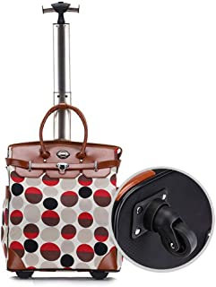 Cabin Size Travel Duffel Wheely Bag Girl Women Hand Luggage Wheeled Trolley Holdall Duffle Carry Bag Lightweight Telescopic Frame (Color : E, Size : 18inches)