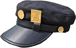 Yancos JoJo's Bizarre Adventure Hat Jotaro Kujou Cap Cosplay Black