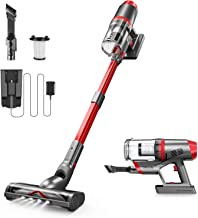 ONSON Cordless Vacuum, Cordless Vacuum Cleaner with Newly Upgraded V-Shape Brush, 4 in 1 Powerful Suction Stick Vacuum, Po...