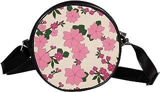 Coosun Umhängetasche mit Blumenmuster, Vintage, Blumen, rund, Umhängetasche, Handtasche, Handtasche, Umhängetasche, für Ki...
