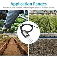ABS + 316ステンレス鋼防水土壌導電率センサー、12-24V DC土壌導電率検出器、科学実験用野菜草地牧草地