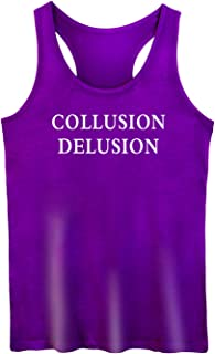 GROWYI Funny Workout Tank Tops Racerback for Women with Saying Collusion Delusion Political Fitness Gym Sleeveless Shirt P...