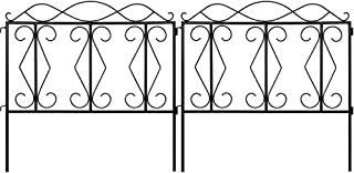 Amagabeli 24inx10ft Decorative Garden Fence Outdoor Black Square Thicken Metal Wire Fencing Rustproof Landscape Wire Patio...