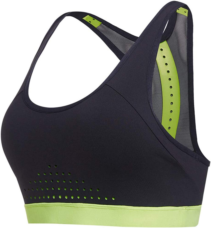 AIYUNDONG Frauen Atmungsaktive Sport-BHS Mesh Yoga Tops Push Up Running Unterwsche Weibliche Fitness Workout Gym Tanktops