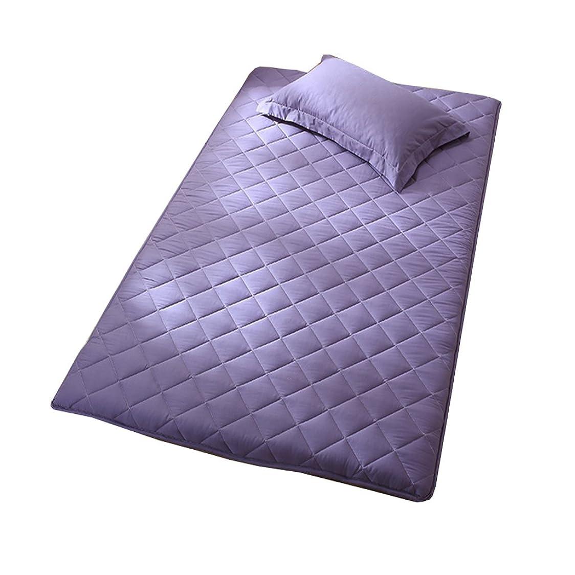 啓発する製油所エーカーNclon 通気性 防湿 マットレス,厚く マットレス シングル,シングルベッド ダブルベッド 100% 綿 式 キルティング-パープル 120*200cm