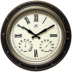 Infinity Instruments The Forecaster Clock, Bronze