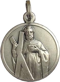 Medalla San Andrés Apóstol Plata Maciza 925 - Las Medallas de Los Patronos