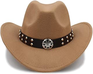 Ruiyue Vintage Western Cowboy Imitation Wool Material Visor Hat Travel Performance Punk Cowgirl Cap For Women Men