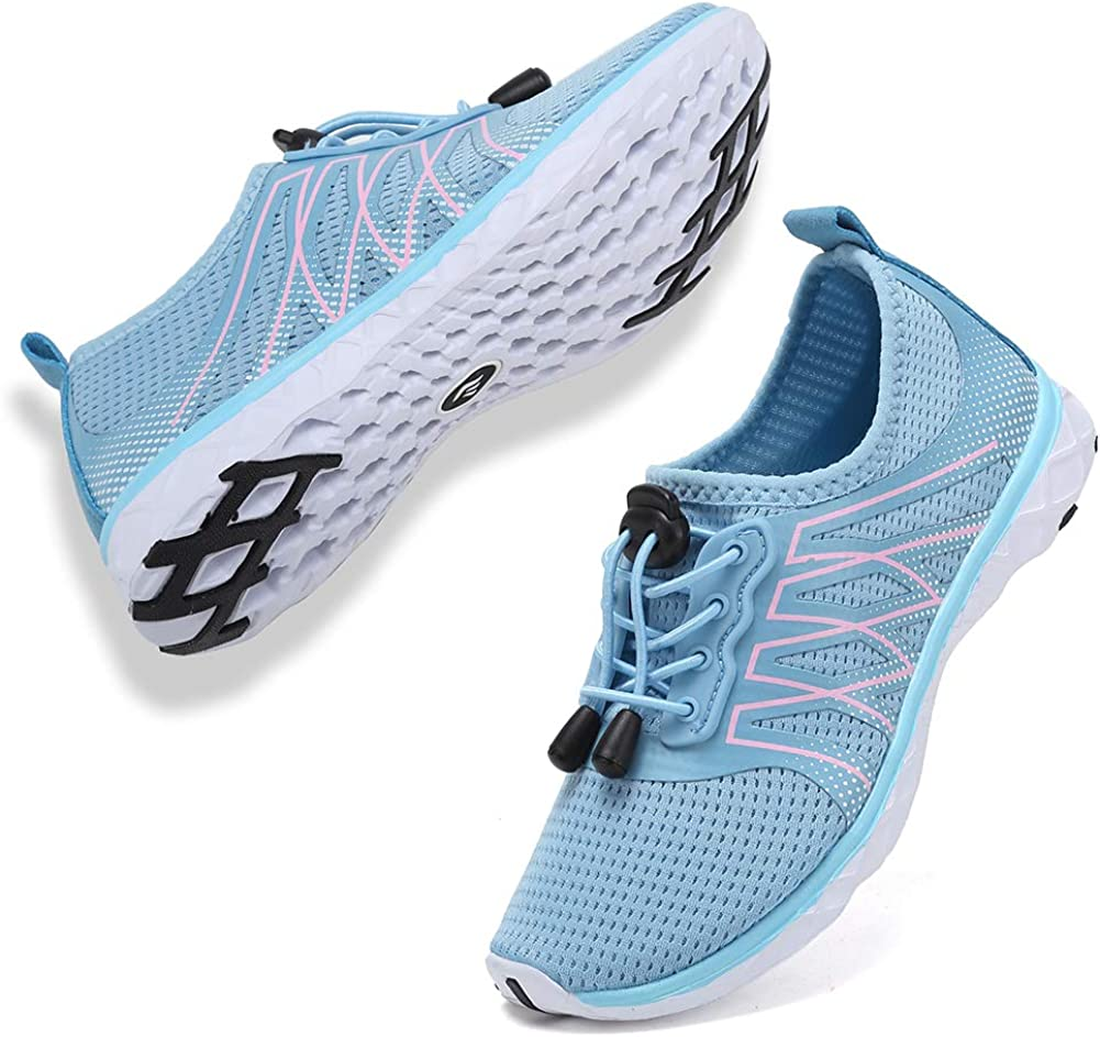 CIOR Boys & Girls Water Shoes Quick Drying Sports Aqua Athletic Sneakers Lightweight Sport Shoes(Toddler/Little Kid/Big Kid) U1ELJSX005-Blue01-32