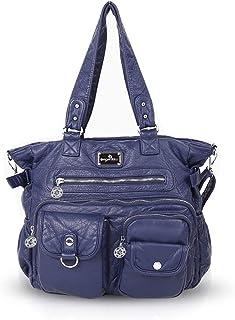 NICOLE & DORIS Damen Schultertaschen Casual Hobo Taschen Crossbody Multi Taschen Blau