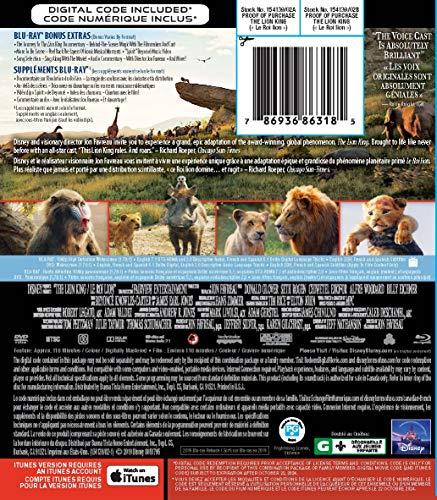 Le Roi Lion (2019) [Blu-ray + DVD + Numérique] (Bilingue) - 1