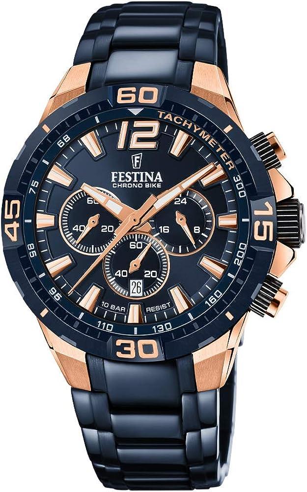 Festina orologio cronografo da uomo  in acciaio inossidabile F20524/1