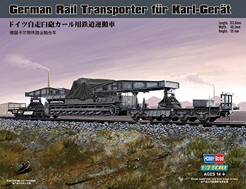 Hobby Boss 82906 Modellbausatz German Rail Transporter für Karl-Gerät