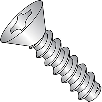 #7-19 Thread Size 1//2 Length Plain Finish Pack of 50 18-8 Stainless Steel Sheet Metal Screw Type AB Phillips Drive Undercut 82 degrees Flat Head
