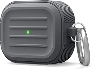 elago Armor Case Designed for AirPods Pro Case - Protective Cover, Shock Proof Silicone (Dark Grey)