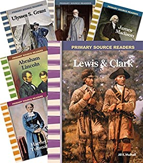 Teacher Created Materials - Primary Source Readers: Biographies of the 1800's - 8 Book Set - Grades 4-5 - Guided Reading Level L - P