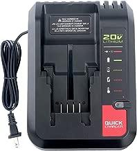 Qbmel PCC692L 20V Max Lithium-ion Battery Charger for Porter Cable PCC685L PCC685LP PCC680L PCC682L PCCK602L2 PCC600 PCC640