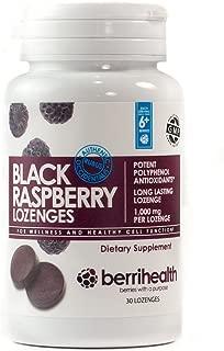 BerriHealth's 100% Authentic Black Raspberry Lozenges - 1,000 mg Black Raspberry Per Lozenge with Organic Honey Crystals