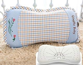 Almohada de látex natural Almohada de masaje de altura Almohadilla de cuidado de la salud de la columna cervical Almohada de cuello, Almohada de masaje granular (0 * 40 * 10/12), Núcleo de almohada