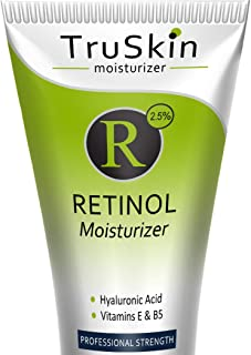TruSkin RETINOL Cream MOISTURIZER for Face and Eye Area, Best for Wrinkles, Fine Lines - Vitamin A, E, B5, Hyaluronic Acid, Organic Jojoba Oil, Green Tea. 2 Fl Oz