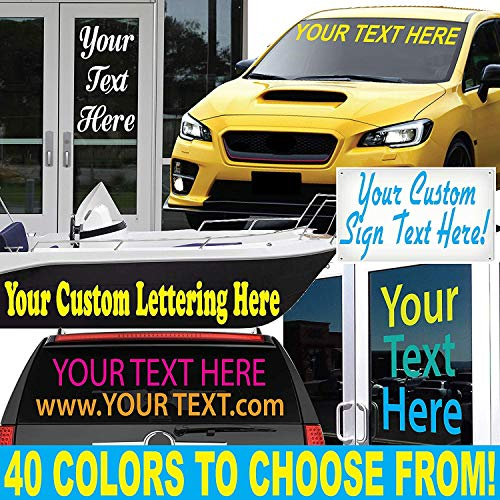 "1060 Graphics 2"" high Custom Vinyl Lettering - for Cars, Trucks, Boats, Signs, Doors, Windows, and More"