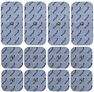 comprar comparacion 12 electrodos para Bluetens (8 * 45x45mm + 4 * 50x100mm), almohadillas conexión de botón 3,5mm