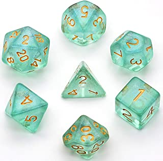 UDIXI Polyhedral DND Dice Sets Iridecent Transparent Discolored Dice for Dungeons and Dragons Pathfinder RPG MTG Table Gaming Dice